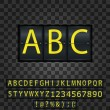 The ABC letters on the metal background — Stock Vector