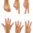 Counting six hands - Stock Photo
