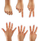 Counting six hands — Stock Photo