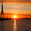 Royalty-Free Stock Photo: Sunset ower Riga city