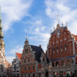 House of the Blackheads in Riga — Stock Photo
