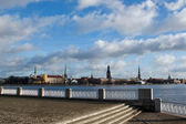 Riga view on the spring cloudy day — Stock Photo