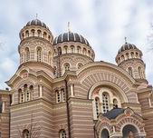 Vista della cattedrale di riga, lettonia — Foto Stock