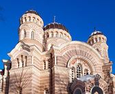 Christus-kathedrale in riga, lettland — Stockfoto