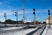 Train traffic ligts — Stock Photo