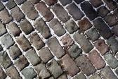 булыжник камень в городе зима — Стоковое фото