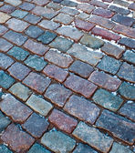 Roadway from stone brick — Stock Photo