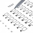 Examination test list — Stockfoto