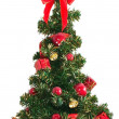 Christmas tree on white — Stock Photo #8223766
