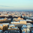 Aerial view of snow covered city Riga — Stock Photo
