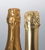 Champagne bottles top — Stock Photo