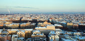 Aerial view of snow covered city Riga — Zdjęcie stockowe