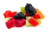 Gekonfijte vruchten. gedroogde pruimen, peren en ananas. — Stockfoto