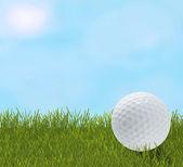 Golfový míček v trávě — 图库照片