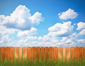 Fence over the sky — Stock Photo