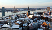 Old city of Riga aerial view from Saint Peter church — Stock Photo