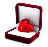 Heart in the gift box — Stock Photo