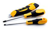 Cuchillo y dos destornilladores — Foto de Stock
