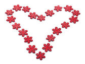 Red heart from snowflakes — Foto de Stock
