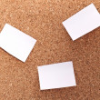 Cork board with sticking paper — Stock Photo #8331707