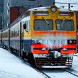 Outgoing electric train — Stockfoto