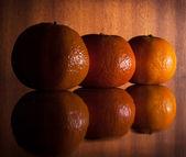 Tres mandarinas — Foto de Stock