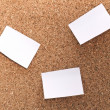 Cork board with sticking paper — Stock Photo