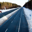 Highwayin winter in Eastern Europe — Stock Photo