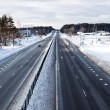 Highway in winter in Eastern Europe — Stock Photo #8346396