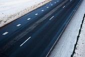 Vägen på vintern — Stockfoto
