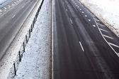 Estrada no inverno — Fotografia Stock