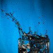 Water splash in glass — Stock Photo