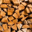 Stock Photo: Birch fire wood