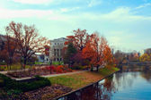 Town park in autumn — Stock Photo