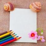 Empty letter on sack — Stock Photo