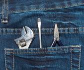 Nástroje v kapse — Stock fotografie