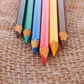 Colourful pencils — Stock fotografie