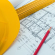 Construction plan — Foto Stock