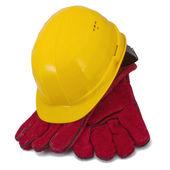 Přilbu a rukavice — Stock fotografie