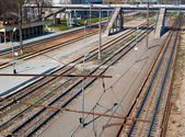 Train platform — Stock Photo