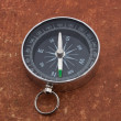 Stock Photo: Compass on old surface