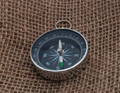 Compass on sack — Stock fotografie