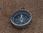 Kompass på säck — Stockfoto