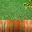Fence near the grass — Stock Photo