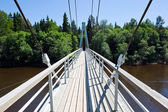 Walkway over river in Sigulda — Stock Photo