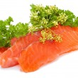 Royalty-Free Stock Photo: Salmon slices
