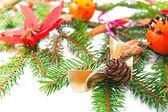 árbol de abeto decorado — Foto de Stock