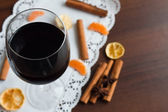 Red wine glass — Stockfoto