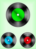 Retro vinyl discs — Stock Vector