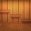 Royalty-Free Stock Vector Image: Wooden shelves on the wall